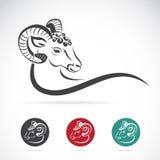 Изображение вектора головы овец Стоковое Изображение
