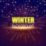 Изображение вектора звезды предпосылки зимы золотое Стоковая Фотография