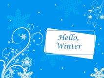 Изображение вектора зимы с снежинками Стоковое Изображение RF