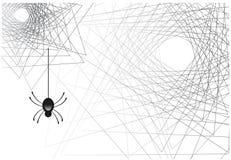 Изображение вектора концепции хеллоуина сети паука стоковое изображение