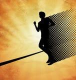 Изображение вектора: мужской бегун на расстоянии Стоковые Изображения RF