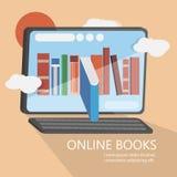 Изображение вектора онлайн книг современное Стоковые Фотографии RF