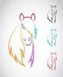 Изображение вектора лошади Стоковые Изображения
