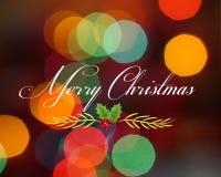 Изображение вектора поздравительной открытки рождества стоковое фото