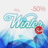Изображение вектора предпосылки продажи зимы голубое Стоковое Изображение RF