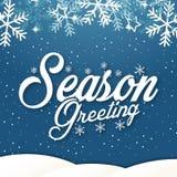 Изображение вектора приветствию сезона предпосылки зимы Стоковое Фото