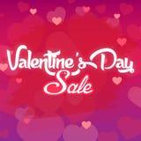 Изображение вектора продажи BG дня валентинки фиолетовое Стоковое Изображение RF