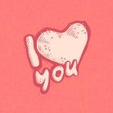 Изображение вектора сердца как влюбленность объявления на предпосылке grunge пастельного пинка Романтичная исповедь открытки Стоковые Фотографии RF