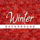 Изображение вектора снежинки предпосылки зимы красное Стоковая Фотография RF