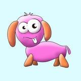 Изображение вектора собаки шаржа Стоковые Изображения