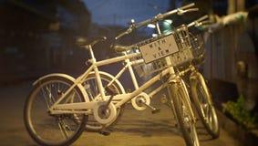 Изображение велосипеда в утре с в Chiang-Khan стоковые изображения