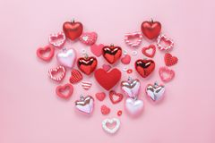 Изображение взгляда столешницы воздушное концепции предпосылки дня валентинок знака Стоковое Изображение