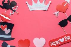 Изображение взгляда столешницы воздушное концепции предпосылки дня ` s валентинки знака Стоковая Фотография
