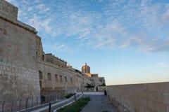 Изображение взгляда улицы Мальты, Валлетты стоковые фотографии rf