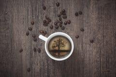 Изображение внутри крышки кофе Стоковые Изображения RF