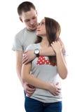 Изображение 2 влюбленныхся подростков Стоковое Фото