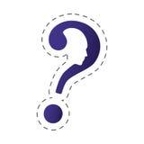 изображение головы формы вопросительного знака Стоковая Фотография RF