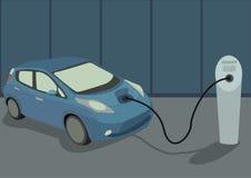 Изображение голубого Electrocar на поручать Стоковое фото RF