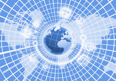 Изображение глобуса цифров Стоковые Фото