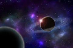 Изображение глубокого космоса иллюстрация вектора