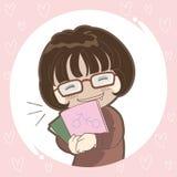 Изображение девушки OTAKU - японская культура бесплатная иллюстрация