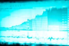 Изображение диаграммы дела и монитора торговлей вклада в торговой операции золота, фондовой бирже, фьючерсном рынке, нефтяном рын Стоковое Изображение