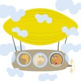 изображение дирижабля шаржа Стоковое Фото