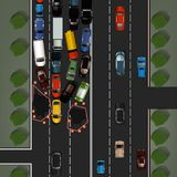 Изображение дорожного происшествия Стоковое Изображение RF