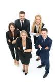Изображение деловых партнеров обсуждая документы и идеи на mee Стоковые Фото