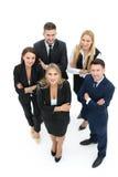 Изображение деловых партнеров обсуждая документы и идеи на mee Стоковое Фото