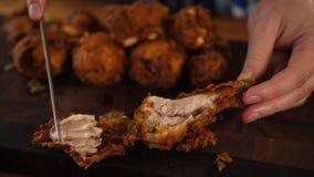 Изображение жареной курицы стоковые изображения rf