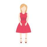 изображение женщины характера безликое Стоковое фото RF