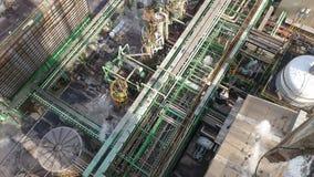 Изображение завода химической промышленности сверху Стоковые Фото