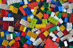 Изображение запаса блоков игрушки красочных пластичных Стоковое Изображение