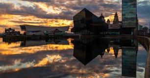 Изображение запаса горизонта Ливерпуля, Великобритании стоковые фотографии rf