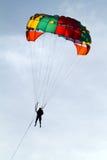 Изображение запаса парашютировать над морем Стоковые Изображения RF