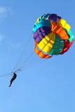 Изображение запаса парашютировать над морем Стоковые Изображения
