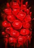 изображение запаса роз красно- Стоковое Изображение RF