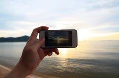 Изображение захода солнца Стоковые Изображения RF