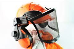 Изображение защитного шлема с перчатками Стоковые Фотографии RF
