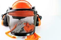 Изображение защитного шлема с перчатками Стоковое фото RF