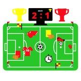 Изображение зеленого футбольного поля Стоковое Изображение