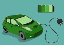 Изображение зеленого Electrocar Стоковое Фото