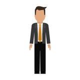 изображение значка бизнесмена безликое бесплатная иллюстрация