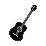 Изображение значка гитары Стоковое Изображение RF