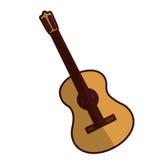Изображение значка гитары Стоковое Изображение