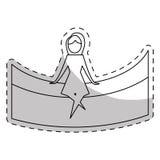 изображение значка женщины контура абстрактное иллюстрация штока