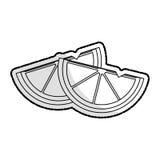 Изображение значка клин лимона иллюстрация вектора