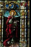 Изображение значка на цветном стекле в христианской церков Стоковые Фотографии RF
