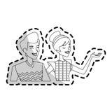 изображение значка пар женщины человека Стоковые Изображения RF